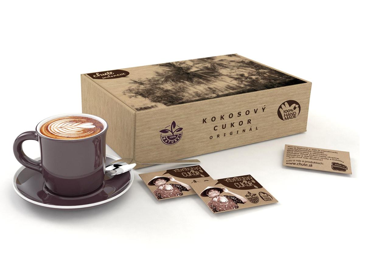 Coffee/Tea Coconut sugar 4 g packaging (100 pcs.)
